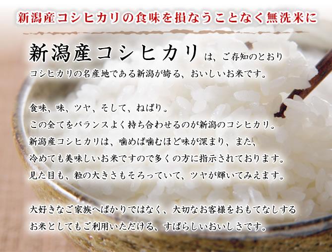 無洗米新潟産コシヒカリ