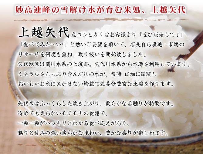 妙高連峰の雪解け水が育む米処、上越矢代