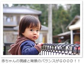赤ちゃんの視線と背景のバランスがGOOD!!